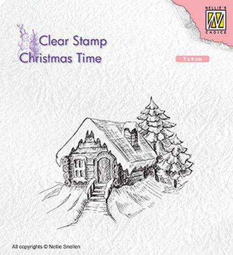 Nellies Choice stempels Cosily snowy cottage
