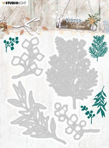 Studio Light Embossing Die Cut Stencil Winter Charm nr.323 STENCILWC323 94x124mm (09-20)