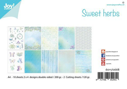 Joy! Crafts Papierset A4 Sweet herbs 10 vel - 120gr / 200gr (09-20)