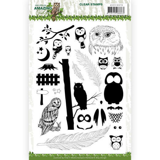 Clear Stamps - Amy Design - Amazing Owls