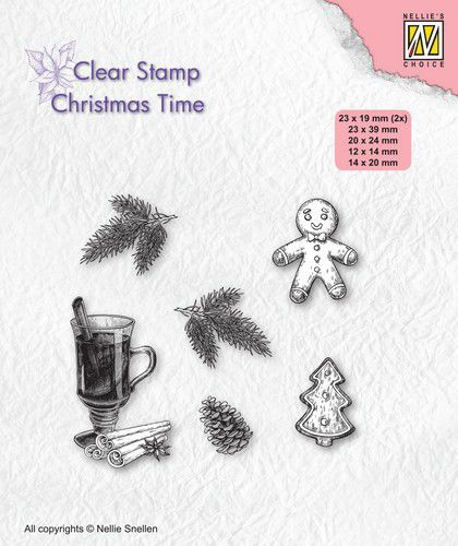 Nellies Choice stempel Christmas Time Kerstversiering (09-20)