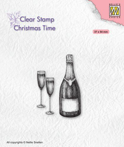 Nellies Choice stempel Christmas time Champagne (09-20)