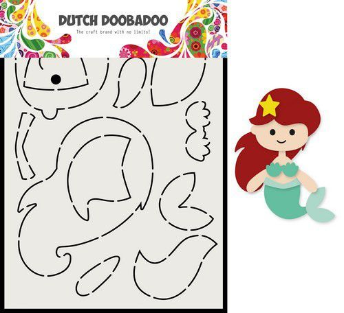 Dutch Doobadoo Card Art Built up Zeemeermin 470.713.810 (09-20)