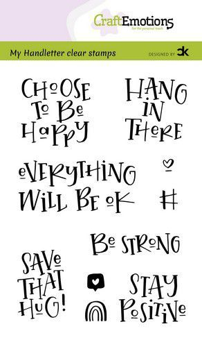 CraftEmotions stempels Handletter - Choose to be happy (Eng) Carla Kamphuis (10-20)