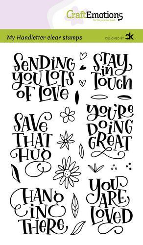 CraftEmotions stempels Handletter - Sending you lots of love Carla Kamphuis (10-20)