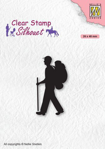 Nellies Choice Clearstempel - Silhouette Backpacker SIL067 (10-20)