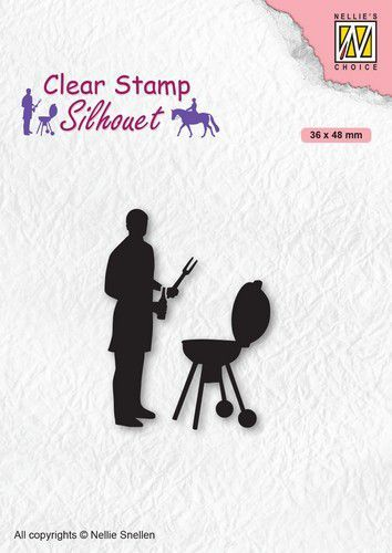 Nellies Choice Clearstempel - Silhouette Barbecue SIL071 (10-20)