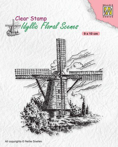 Nellies Choice clearstamp - Idyllic Floral - Molen IFS029 (10-20)