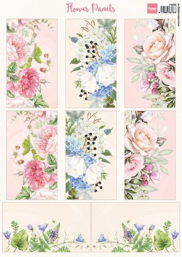 Marianne Design knipvel VK9592 Flower Panels