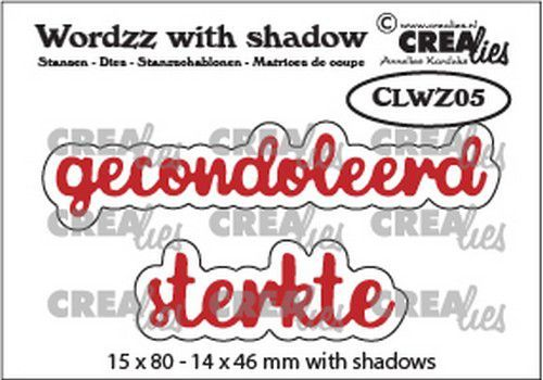 Crealies mallen Wordzz with Shadow Gecondoleerd sterkte (NL) CLWZ05