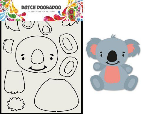 Dutch Doobadoo Card Art Built up Koala A5 470.713.837 (11-20)