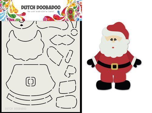Dutch Doobadoo Card Art Built up Kerstman A5 470.713.830 (11-20)