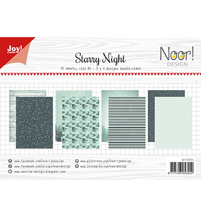 Joy!Crafts Papierset - Noor - Design Starry Night