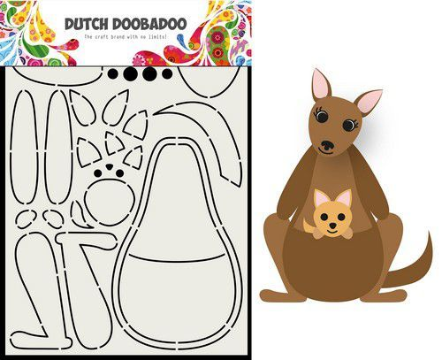 Dutch Doobadoo Card Art Built up Kangaroo A5 470.713.841 (12-20)