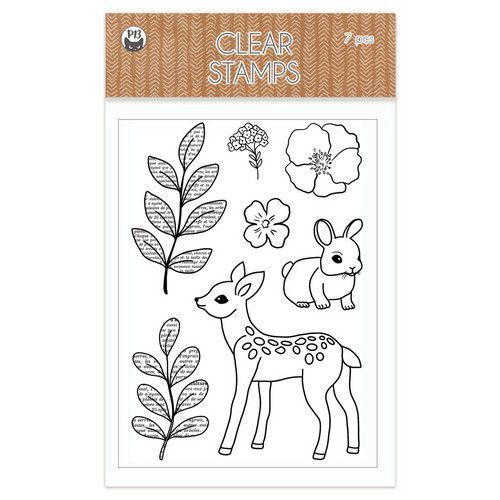 Piatek13 - Clear stamp set Forest tea party 05 P13-FRE-31 (12-20)