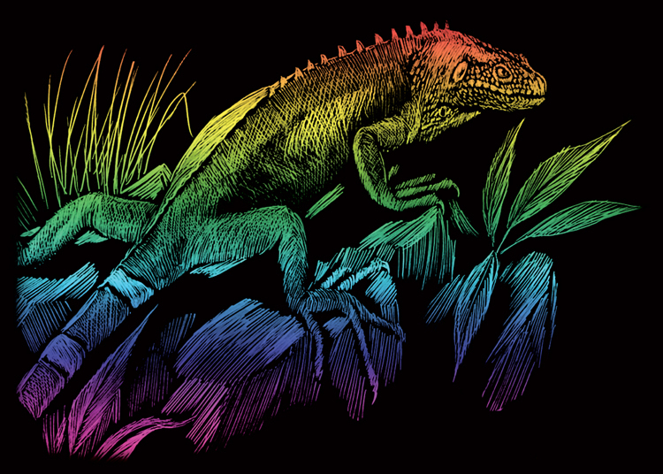 IGUANA RAINBOW MINI ENGRAVING