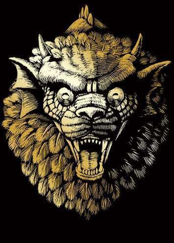 GARGOYLE GOLD MINI ENGRAVING
