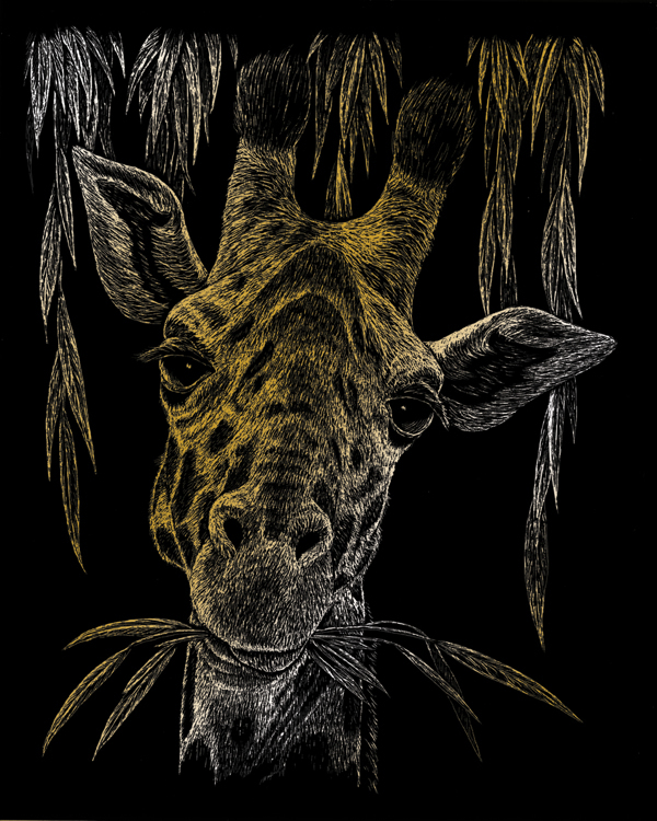 GOLD ENGRAVING GIRAFFE