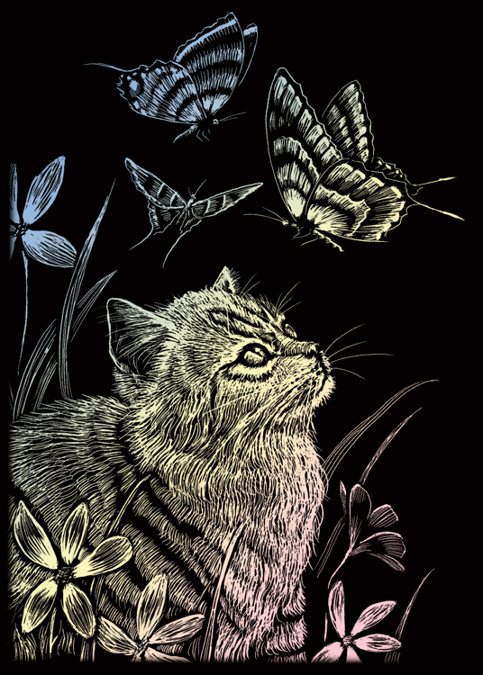 KITTEN & BUTTERFLY HOLOGRAPHIC