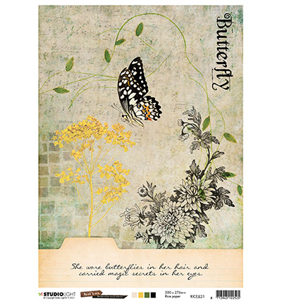 Studio Light Rice Paper Butterfly Collection nr.21