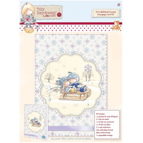 A5 Embellished Framed Decoupage Card Kit - Tilly Daydream