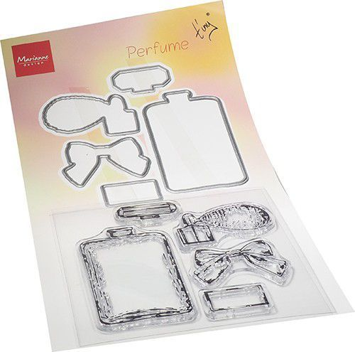 Marianne D Clear Stamp & die set Tiny's Parfum TC0882 120x225mm (03-21)