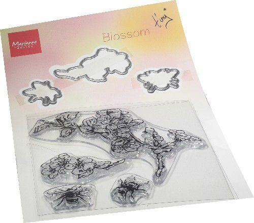 Marianne D Clear Stamp & die set Tiny's Bloesem TC0881 120x225mm (03-21)