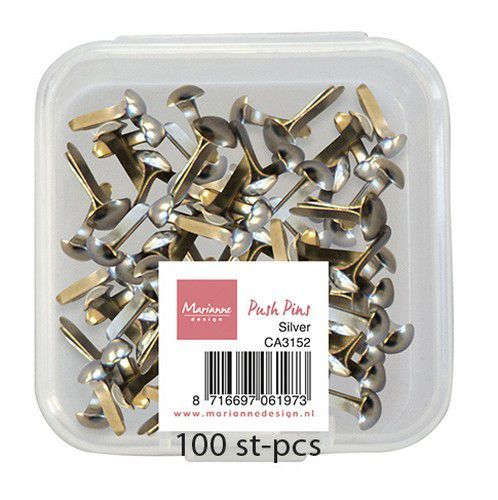 Marianne D Decoratie Push Pins - Zilver CA3152 (03-21)