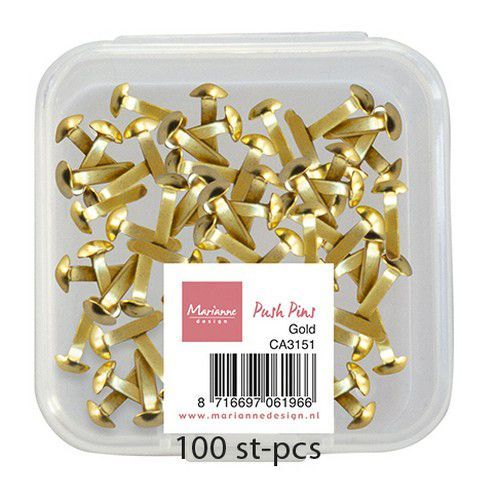 Marianne D Decoratie Push Pins - Goud CA3151 (03-21)