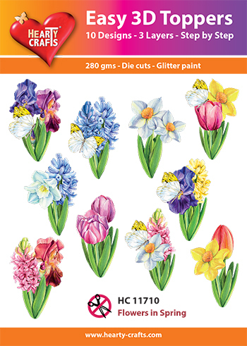 Easy 3D-Toppers Flowers in Spring
